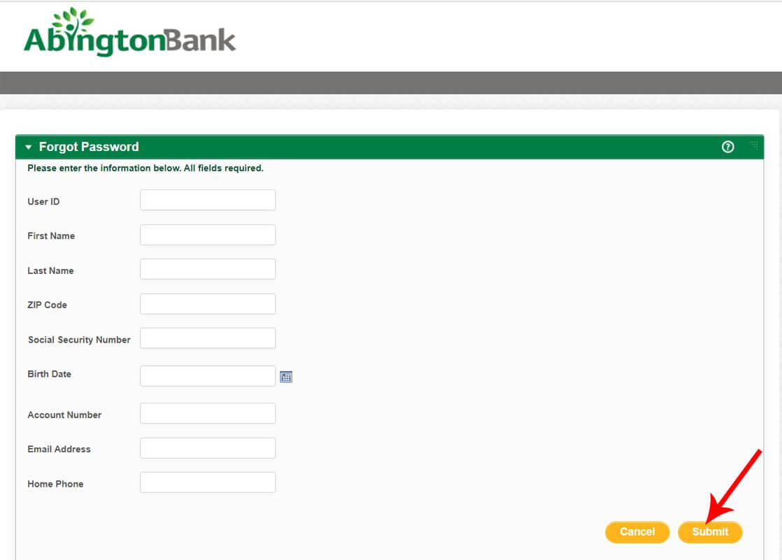 Abington Bank Forgot Password