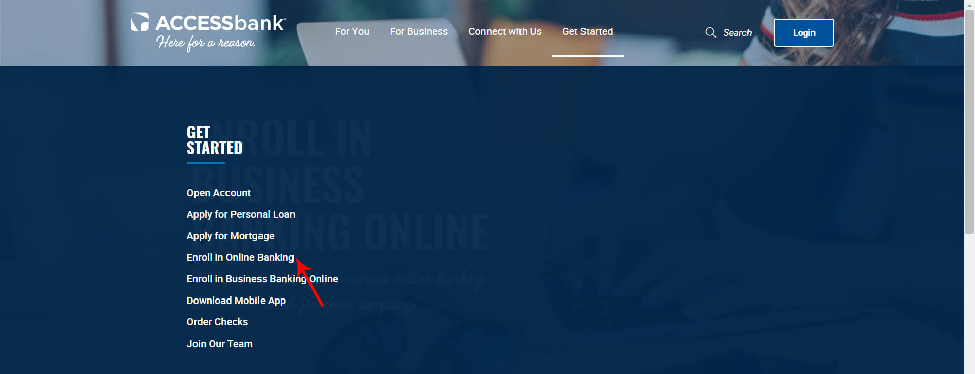 Enroll in Online Banking with Access Bank