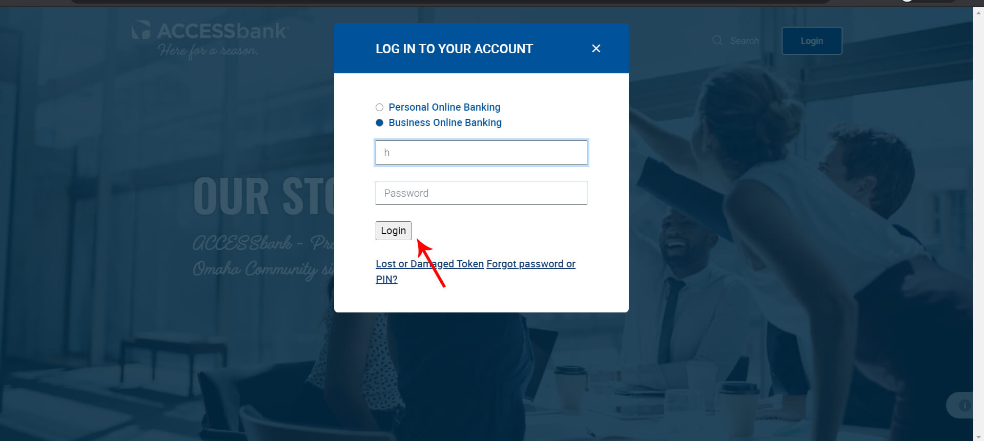 Login to your Access Bank Account